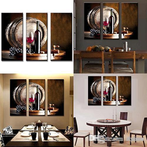 Wholesale Modern Still Life Barrel Wine Paintings Wall Art Home ...