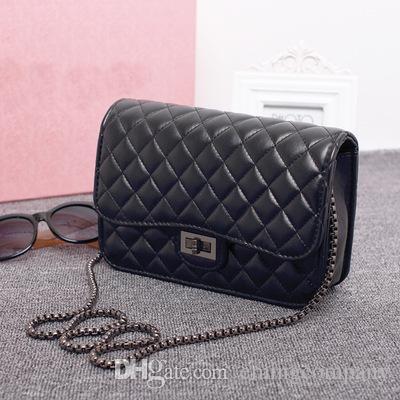 9bd7dd3ba1 Designer Women s Plaid Chain Bag Ladies Luxury High Quality Purse ...
