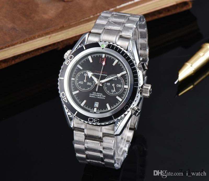 31384d41fa9 Mens Watches Top Brand Luxury Swiss Stainless Steel Watches Men Fashion  Quartz Watch Black Dial Designer Water Resistant Casual Wrist Watch Buy  Wrist Watch ...