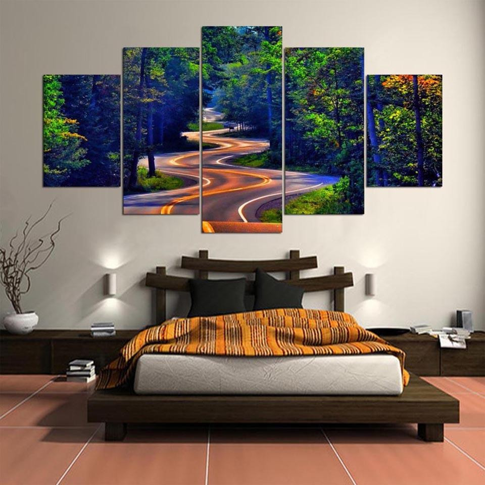 2019 Wall Art Frame Canvas Pictures Modern HD Printed Natural Beauty Highway Tree Living Room Paintings Posters Home Decor From Z793737893 889