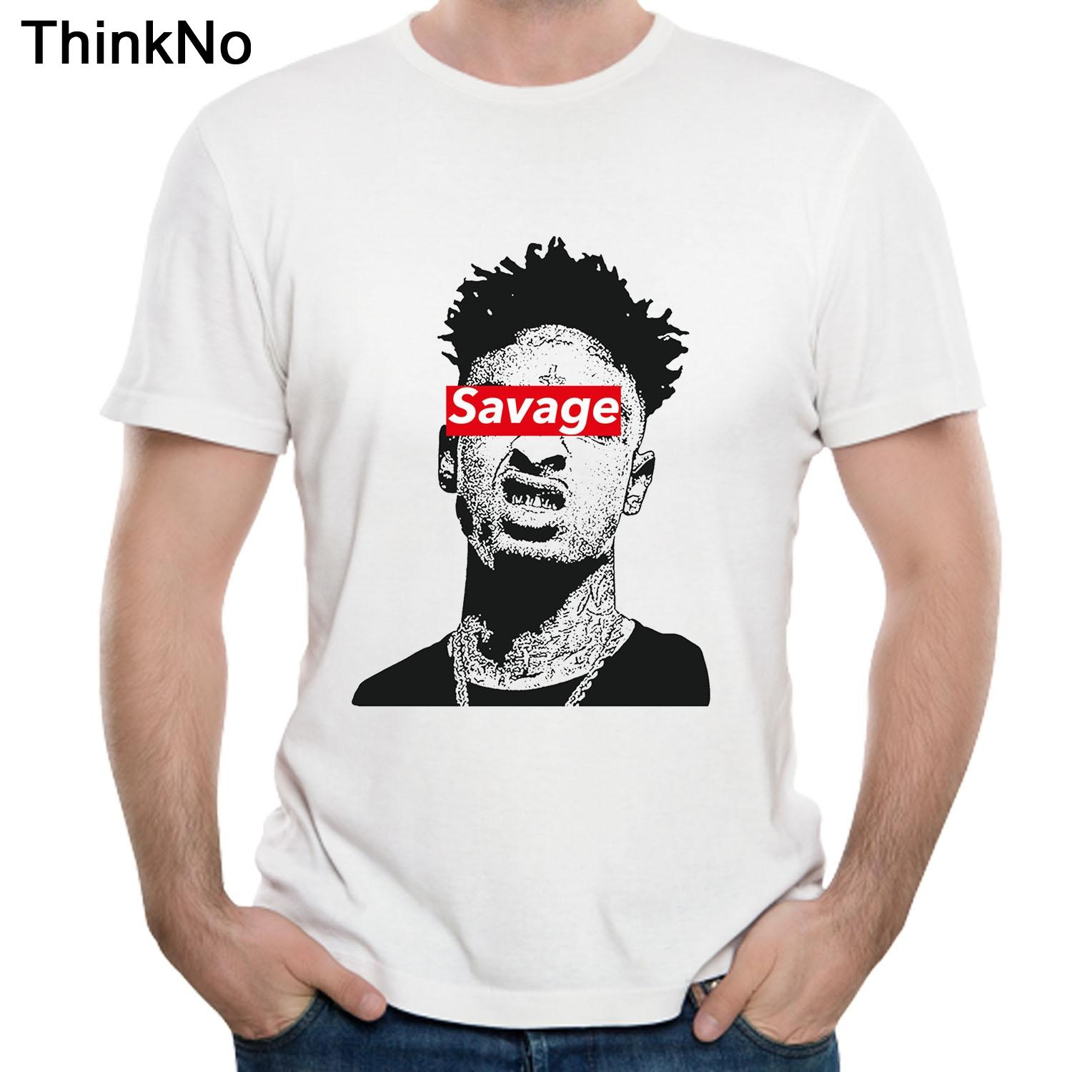 c6f5a6b0ca3 21 Savage T Shirt Plus Size Fashionable Tees Casual Summer Tees Singer Tees  Streetwear Breathable Hip Hop Camiseta T Shirt Sayings Retro T Shirt From  ...