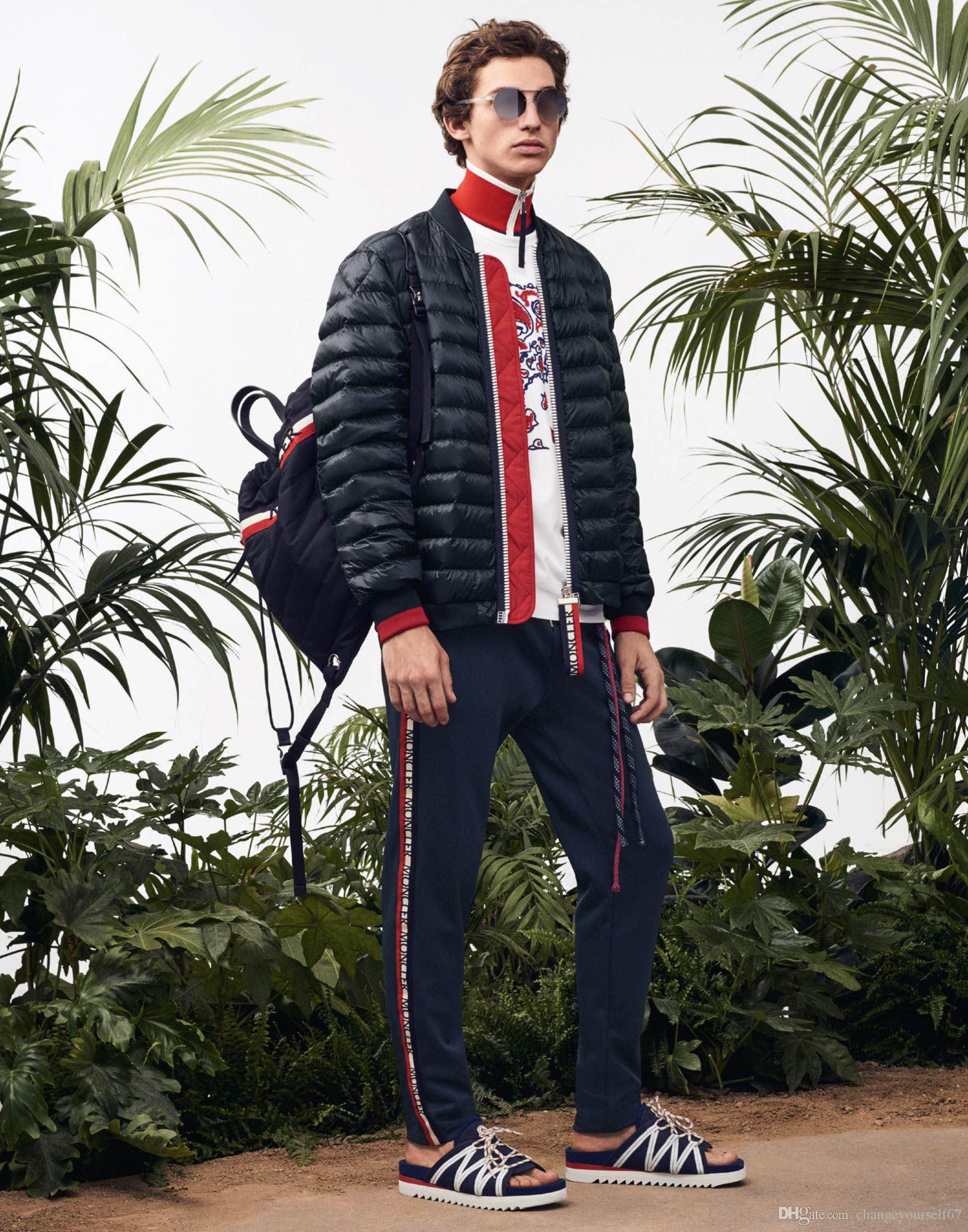 Stand collar mens winter street trend short down jacket windproof fashion feather filled zipper warm casual youth Parker coat
