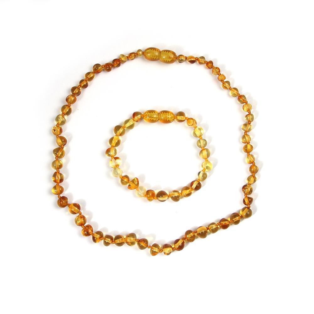 f9d208ffa352 Collar de ámbar natural para el bebé adulto Regalos de la mamá joyas de  piedras preciosas genuinas joyería de ámbar báltico collar de la pulsera ...