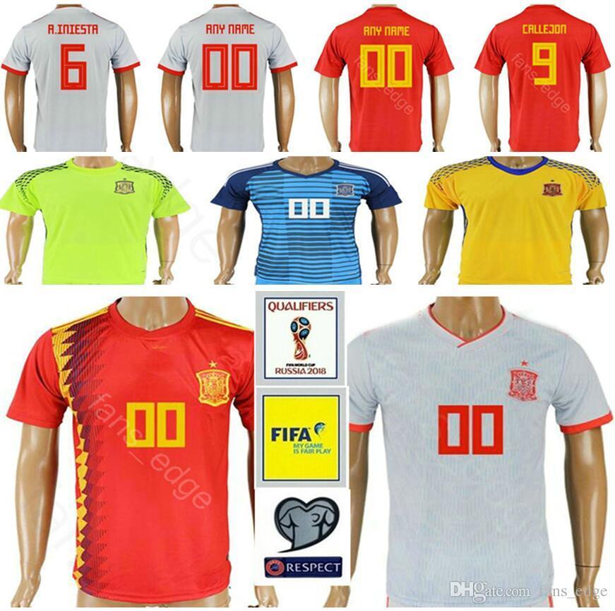 2018 Copa Del Mundo De España Jerseys De Fútbol 17 IAGO ASPAS JORDI ALBA  RODRIGO 20 ASENSIO SILVA 22 ISCO REINA Hombres Mujeres Camiseta De Fútbol  Para ... 153942ca01c7d