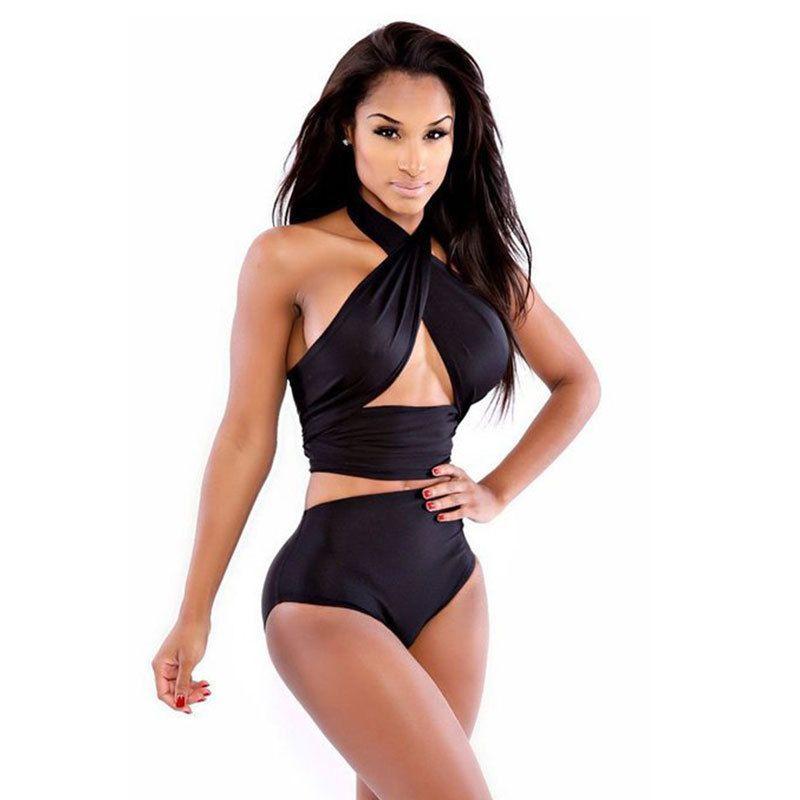 5fb1a8eaa4 2019 Women Summer Beach Swimwear Sexy Haut Femme Low Cut Short Corset  Bandage Tank Tops Camisoles Cropped Feminino Clothing B From Ziron