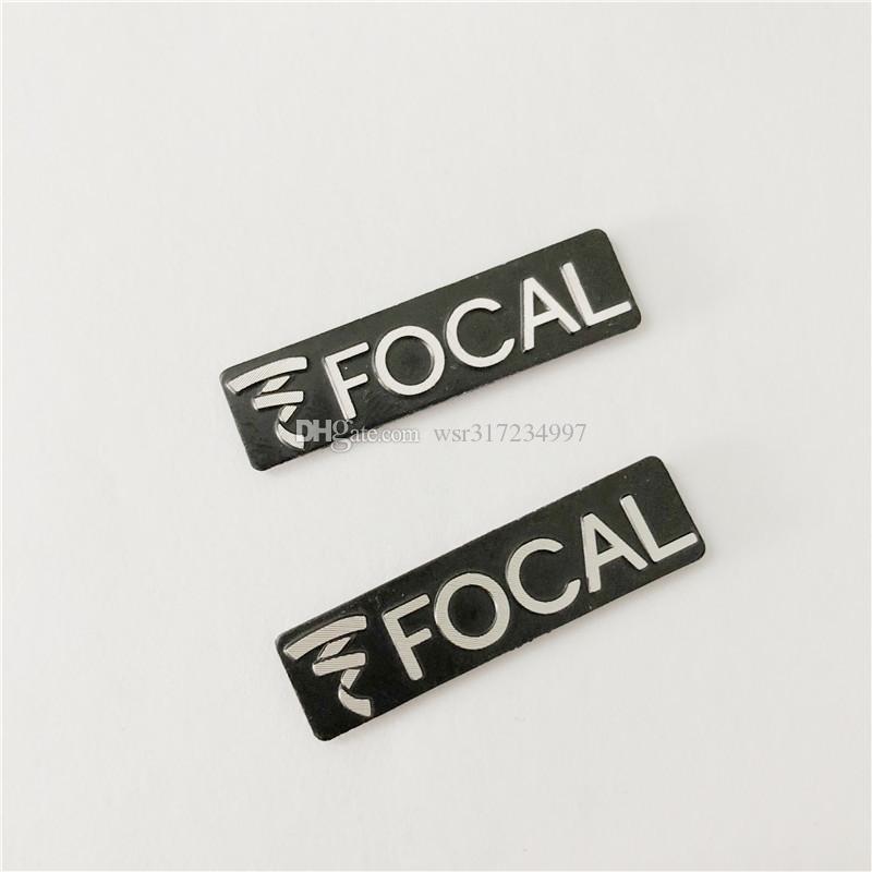 Whloesale 3D metal FOCAL Aluminum Car steering wheel emblem Speaker car stickers badge cardoor decoration sound sticker for vw/bmw/benz