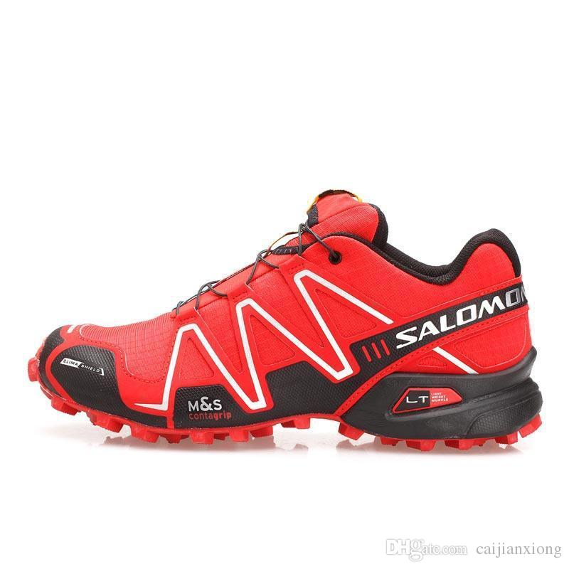 511d01a0d Compre Velocidade Salomon Cross 3 CS III Homens Vermelhos Calçados  Esportivos Mens Velocidade Crosspeed 3 Tênis De Corrida Ao Ar Livre Eur 40  46 De ...