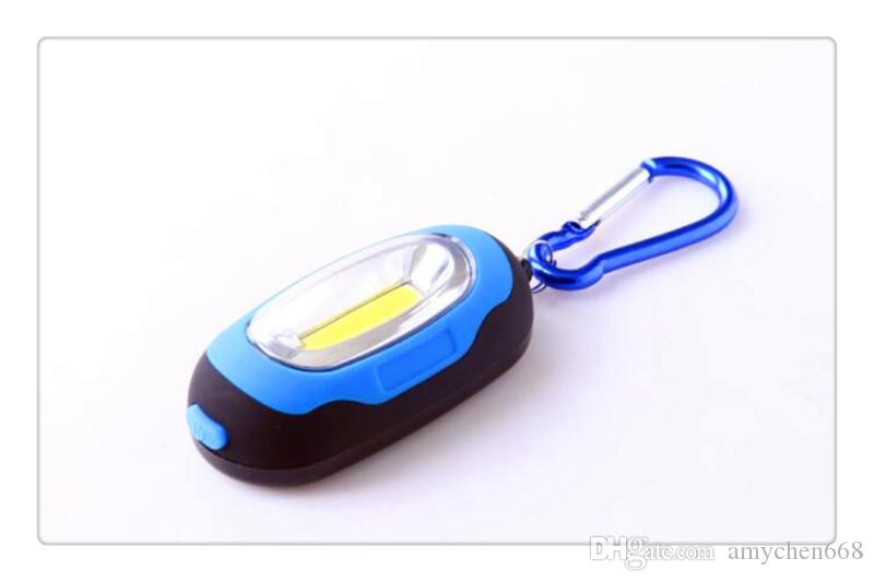 COB Hiking Camping Outdoor Gear LED Mini Keychain super bright flashlight Torch Flower Shape Key Chain Ring Mixed Colors