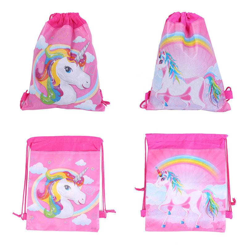 Unicorn Drawstring Bags 3 Styles Kids Backpack Nonwovens Girls Boys ... 93a96408822a2