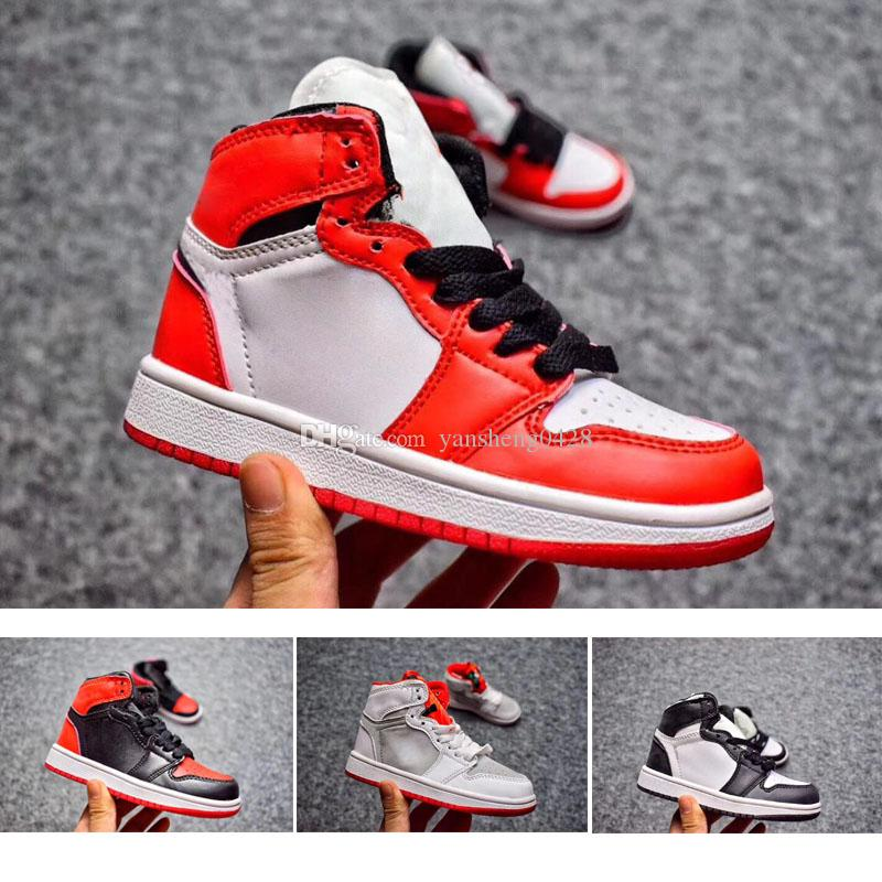 Wholesale Children Shoes J 1 1s Cheap Store Top Quality Kids Basketball  Shoes Price Sales 28 35 Running Shoes For Flat Feet Tennis Shoes Junior  From ... 9840de043