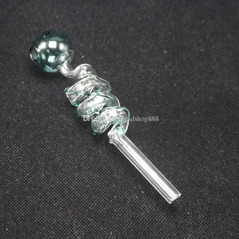 Дешевые изогнутое стекло масло горелки трубы 30мм диаметр шара шаровой балансир водопровод DAB установок сухой травы запрещено труб