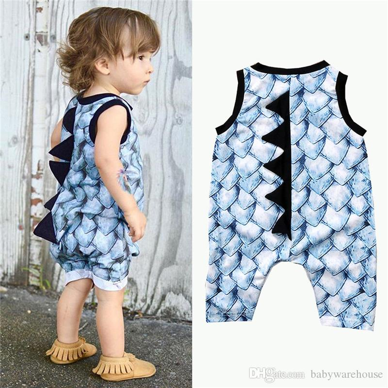 3f6bebfbc2e4 Fashion Infant Clothing Baby Romper Summer Sleeveless Cartoon Dinosaur  Romper One Piece Jumpsuit Newborn Baby Boy Clothes Girls Clothes Infant  Clothing Baby ...