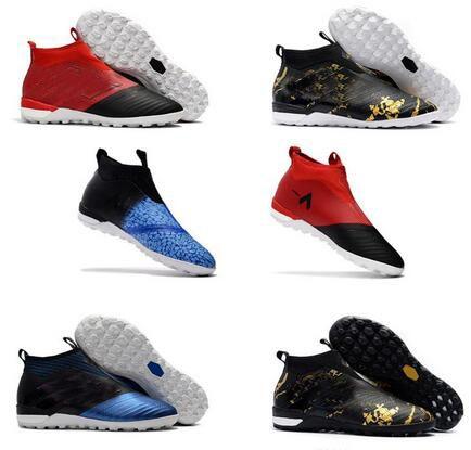 sports shoes 0980b 022ae 2018 Fishion Laceless Ace 17+ Purecontrol Fg Dragon Soccer Shoes 17.1 Botas  De Fútbol Al Aire Libre Ace Tango 17+ Purecontrol Tf In Soccer Cleats Por  ...