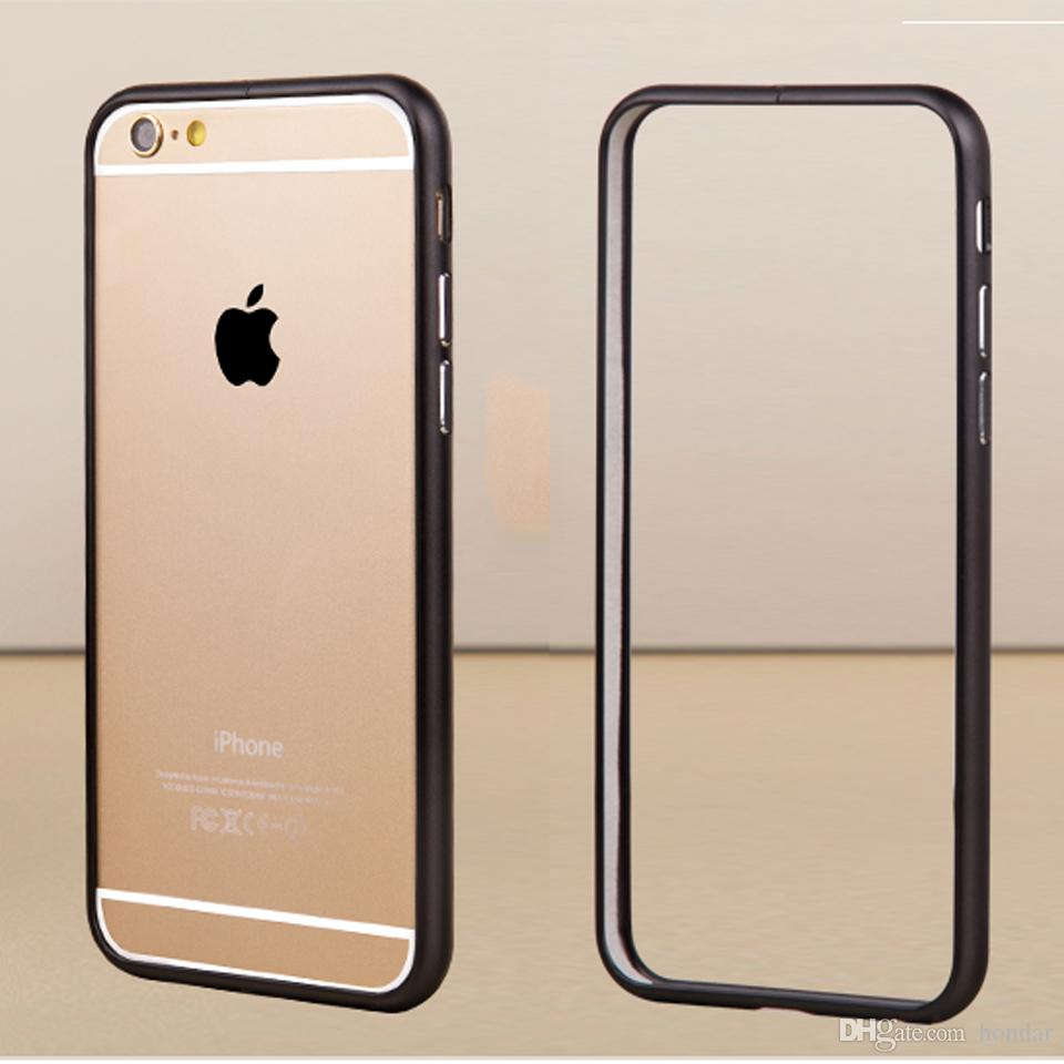 timeless design 9c13e 6150a Free shipping Global hits For iphone 6 plus bumper case Luxury Aluminum  Pure Color mobile case Frame Metal Phone Case Cover Coque