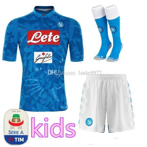d72e3379dfc18 2019 2019 Napoli Soccer Jersey Kits Mens KIDS HAMSIK GABBIADINI MERTENS  MILIK L.INSIGNE CALLEJON Allan Zielinski Naples Customize Football Kits  From ...