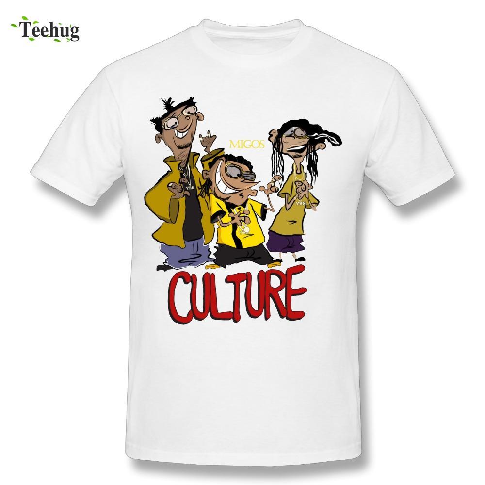 00a467c9629 Round Collar Men s Migos Novelty Design T-Shirts Funny Cartoon Hip Hop  Rapper T Shirt