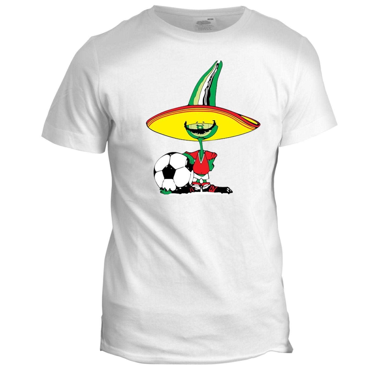 Mexico 86 Football World Cup Mascot Pique Tumblr Soccer Mens Retro 2