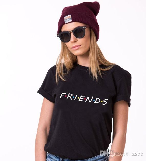 Large size T-Shirt Top new Harajuku letter printing Summer Tops Fashion Casual Tees For Women Friends TV Show Shirt Gift T shirt NVTX115 R