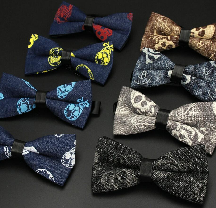 4f8efd38396e 23styles 12*6cm Cowboy Skull Printed Bow Tie Vintage Party Wedding Business  Buckle Casual Bowknot Fashion Neck Bow Tie FFA609 Baby Bow Ties Cheap Bow  Ties ...