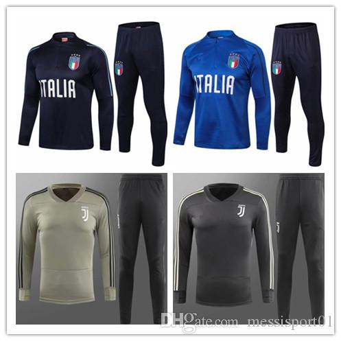 2019 2018 19 ItALY Tracksuit Training Suit 18 19 ITALIAN Tracksuit Juventus  INSIGNE VERRATTI MARCHISIO GHIELLINI Chandal Training Tracksuit From ... 61d44054b