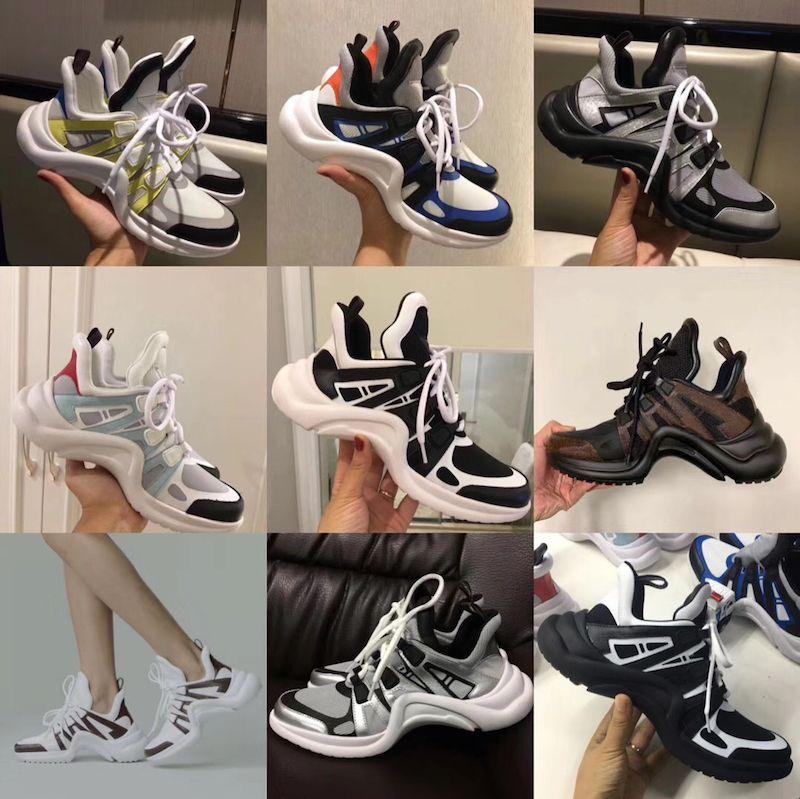 990a35f46ee38 Großhandel 2018 NEUE Luxus Frauen Archlight Sneaker Männer Aus Echtem Leder  Trainer TPU Outsole Freizeitschuhe Läufer Schuhe 7 Farben Von Tbtgroup