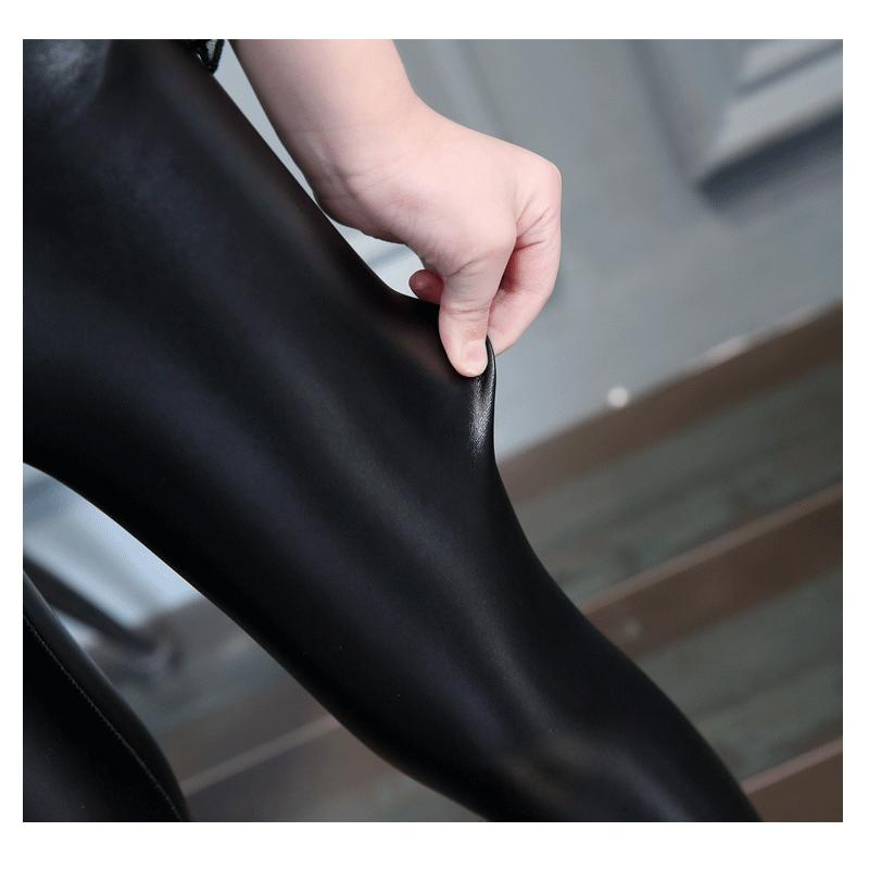 3-12 Yıl Çocuklar PU Deri Pantolon Sıkı Tayt Bebek Kız Erkek Pantolon Kış kalın veya Bahar Pantolon Çocuk Giyim