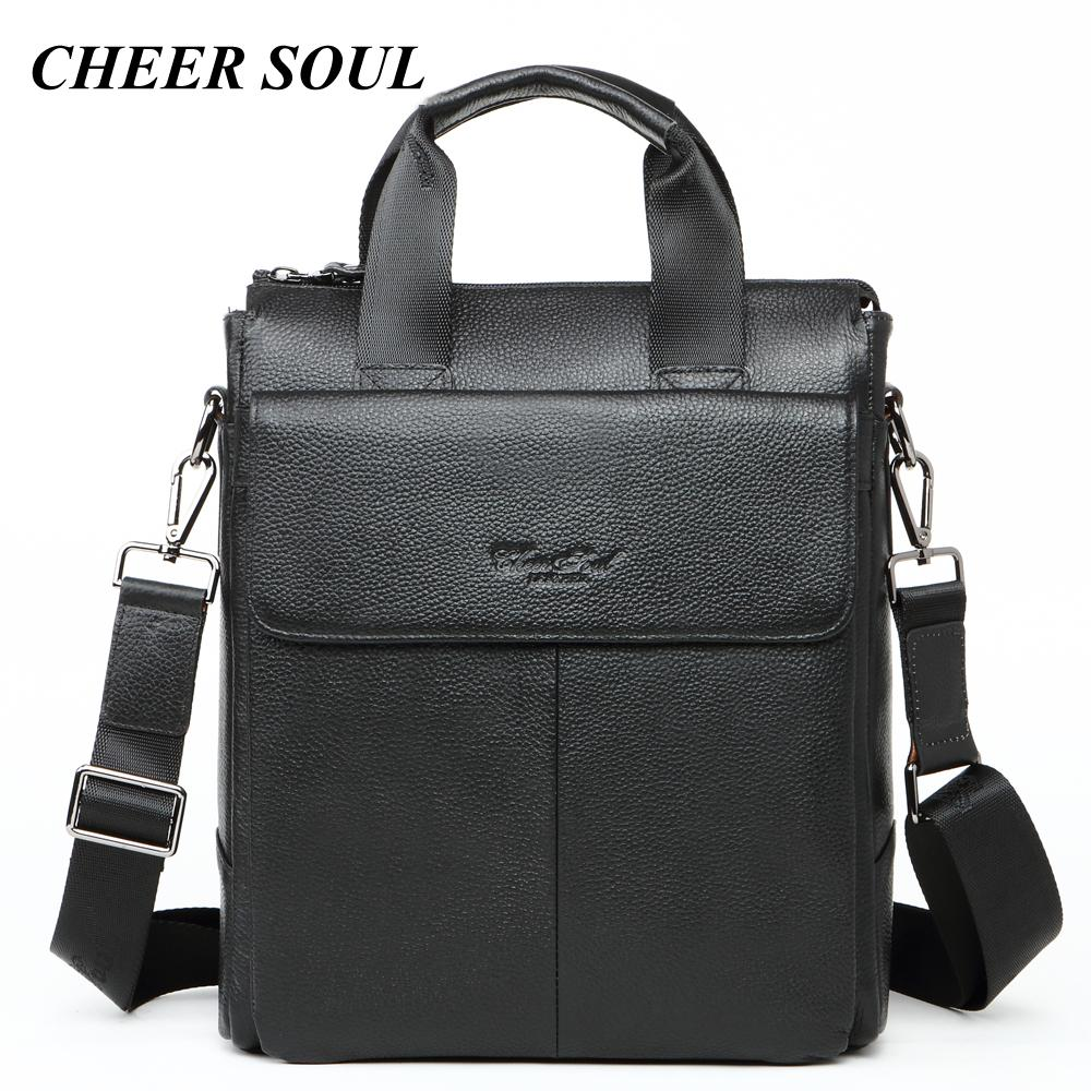 Business Men Briefcases Genuine Leather Laptop Bags For Men Fashion ... a1ee8aee992ce