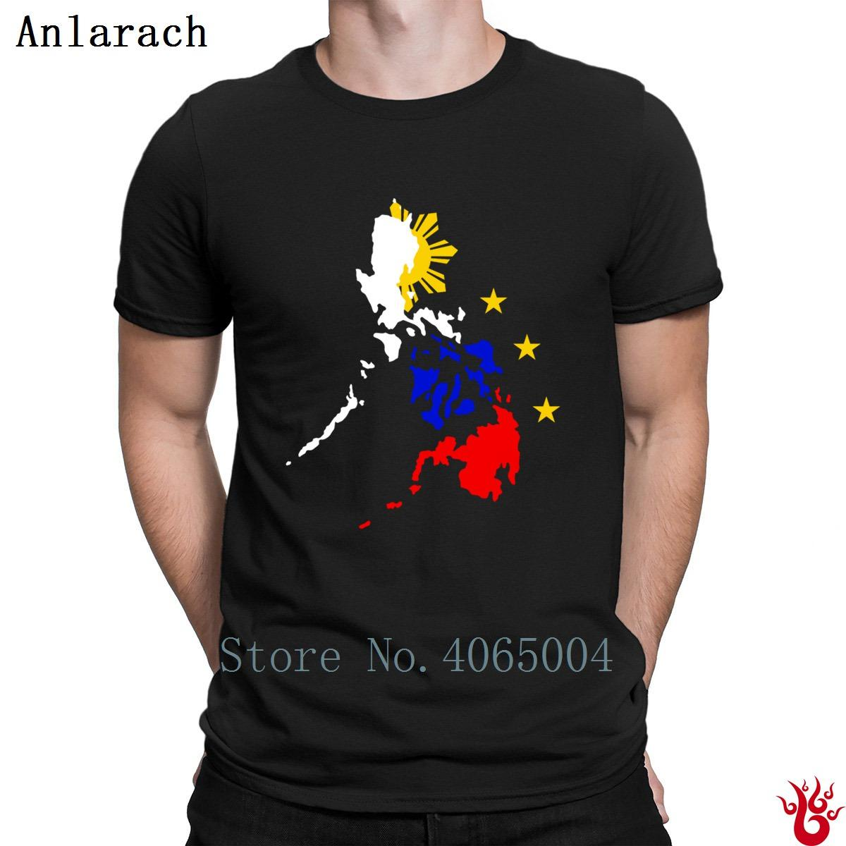 Map Of Philippines With 3 Stars And Sun T Shirt Standard Mens