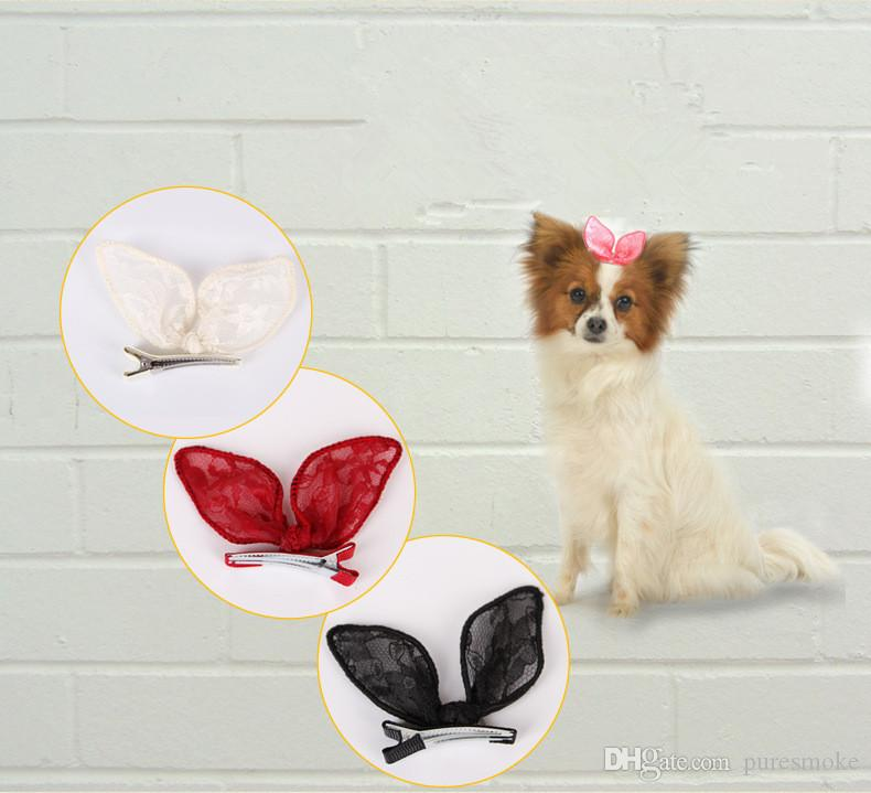 2018 New High Quality Pet Hairpin Dog Lace Head Flower Pet Beauty Jewelry Dog Hairpin Pet Grooming Accessories