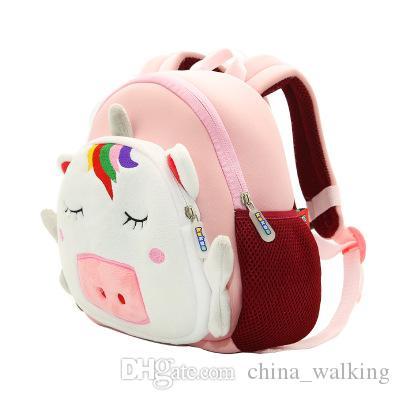Unicorn Backpack Prevent Loss Backpack Children Cartoon Schoolbag