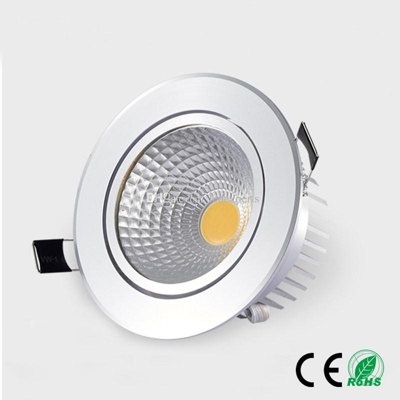 Downlights All Black Soft Cob Led Downlight Dimmable Ac 220v Spot Light 5w 7w 12w Cob Led Ceiling Downlight Recessed Techo Indoor Lighting High Quality And Inexpensive