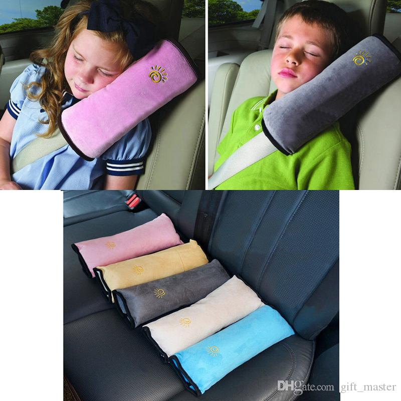 Car Seatbelt Pillow Seat Belt Covers For Kids Shoulder Safety Protector Cushion Auto Strap ChildS Travel Baby Name Batman