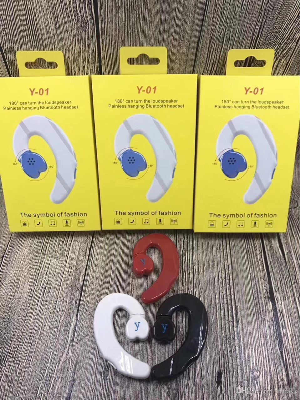 Explosion Models Y 01 Single Ear Bluetooth Headset Long Standby Over Ear Earphones Bluetooth Earphones Long Term For Iphone2019 2018 Explosion Models Y 01 Single Ear Headset Single Ear Bluetooth Headset Bluetooth Earphones Long Term For Iphone