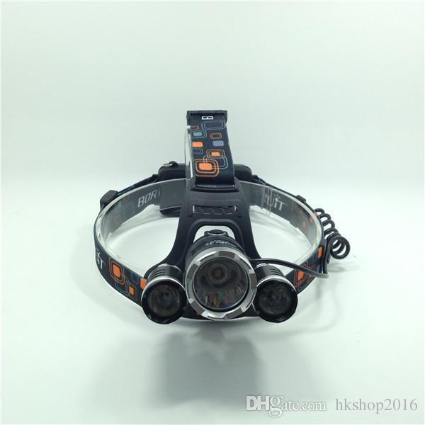 5 LED Far 15000 Lümen Cree XM-L T6 Kafa Lambası Yüksek Güç LED Far + 2 adet 18650 Pil + Şarj + araç şarj