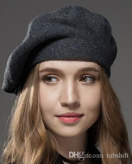 d75542f32625c Winter Hat Berets New Wool Cashmere Womens Warm Brand Casual High Quality  Women s Vogue Knitted Hats For Girls Cap. Store-wide Discount