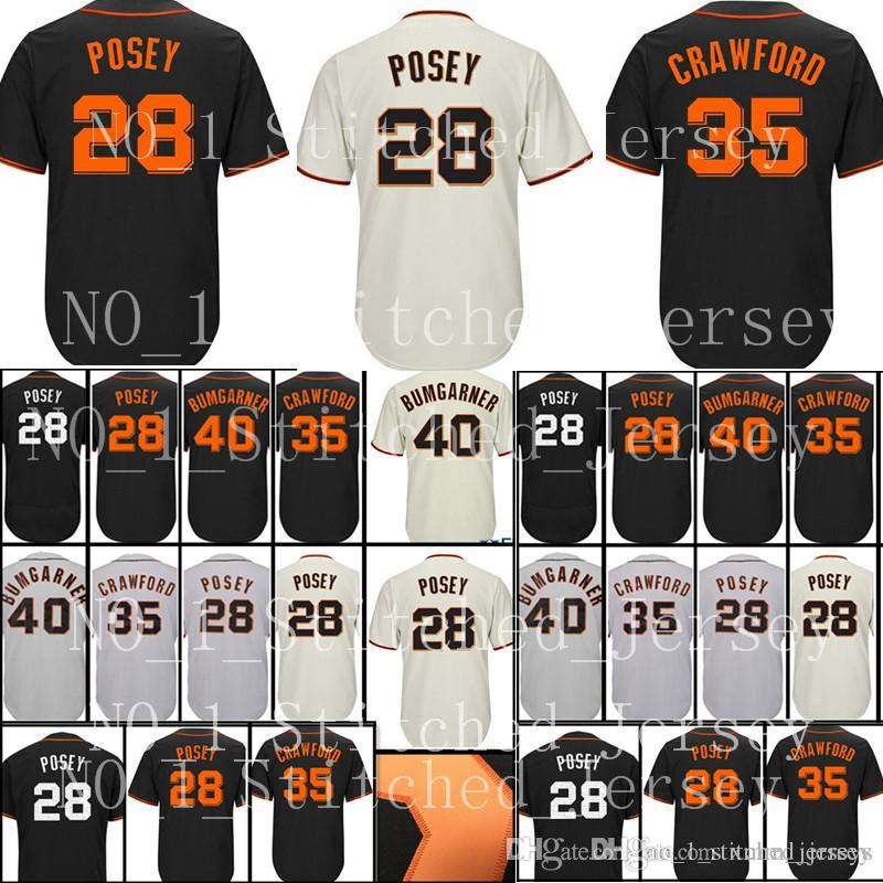 e9d8cde7a 2019 28 Buster Posey 35 Brandon Crawford 40 Madison Bumgarner Baseball  Jerseys Men S Stitched Embroidery CoolBase Jersey From Xmm jerseys