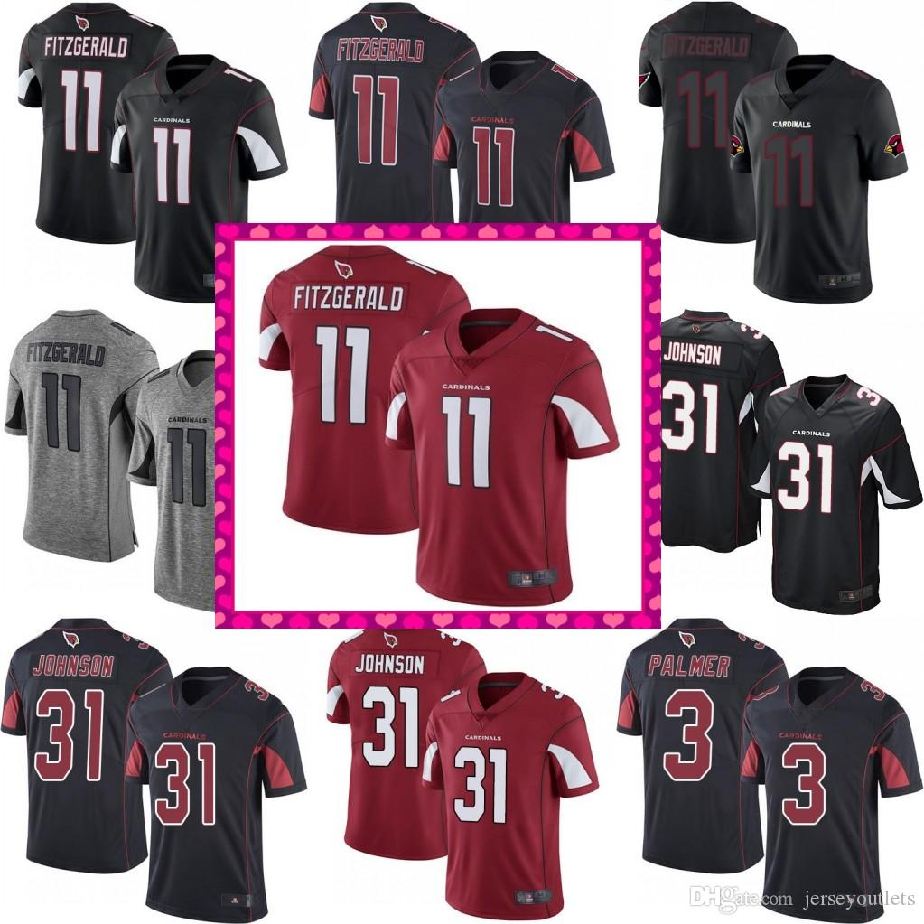 a34154ce827e 2018 Men  11 Larry Fitzgerald 3 Josh Rosen Cardinals Jersey 31 David  Johnson 32 Tyrann Mathieu Football Jerseys 01 From Jerseyoutlets