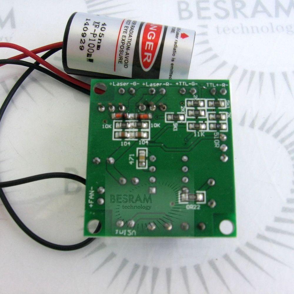 Éclairage d'étape pourpre violet-violet du module 12VDC TTL de diode laser de 100mW 150mW 405nm