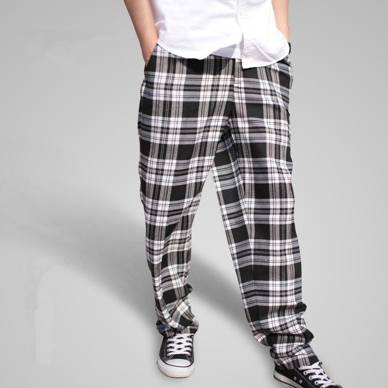 73595d52bfd2 2019 2018 New Men S Popping Locking Plaid Pants Fashionable Personality  Casual Hip Hop Men Pants Big Size Baggy Harem A3393 From Zanzibar