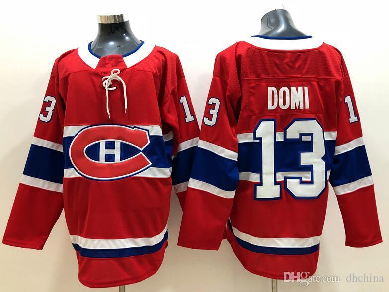 New Canadiens Jerseys  13 Domi Jersey 2018 New Hockey Jerseys Home ... a3fe9338b