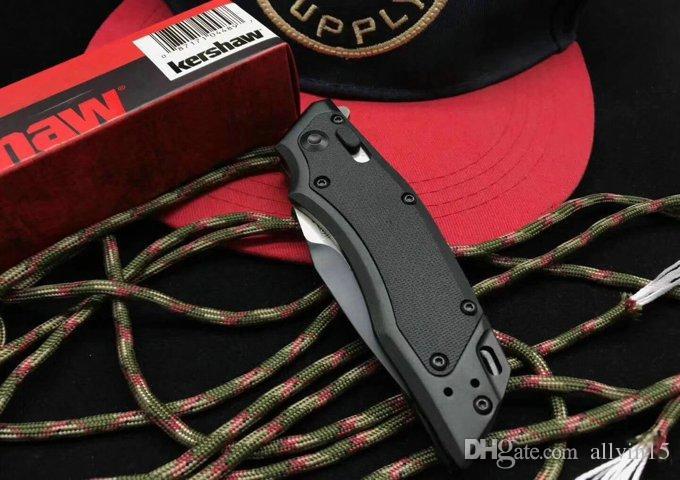 Drop Shipping 1905 Kershaw Induction Hawk Lock Drop Point Blade Black Aluminum Folding Knife EDC Pocket Knives With Retail Box