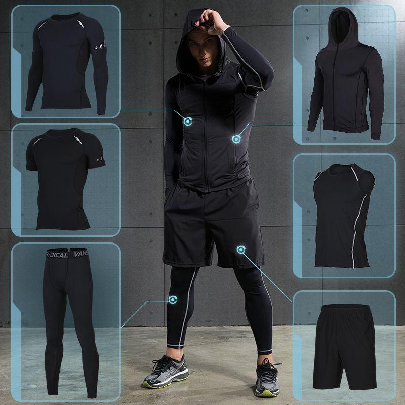 Fitness für Männer Fitness Sportbekleidung Sportliches Training Kleidung Anzüge Training Jogging Sportbekleidung Trainingsanzug Dry Fit