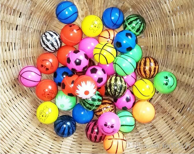 NO.27 25mm Rubber Bouncing Balls Solid Floating Fun Sea Fishing for kids Decompression Toys Amusement Toys