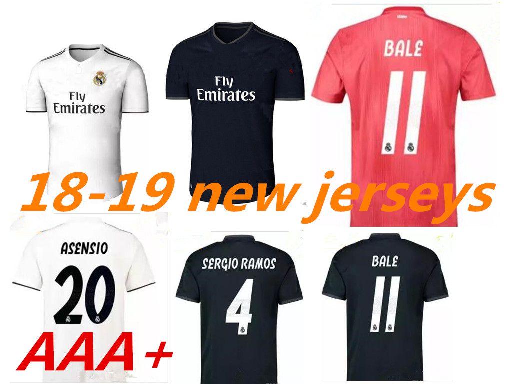 37a651c1eab 18 19 Real Madrid Soccer Jersey Football Shirt Modric Kroos Bale ...