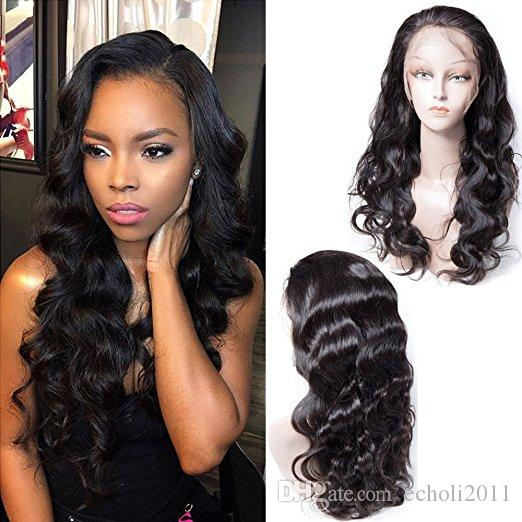 Body Wave 360 lace Wigs Human Hair 130% Density Brazilian Virgin Human Hair Lace Front Wig With Baby Hair for black women