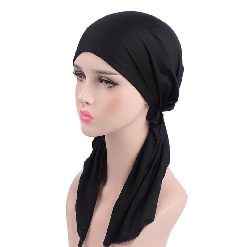2019 Hot Sale Cotton Elastic Turban Hat Chemotherapy Hat Women Headscarf  Women Headwrap Scarf One Size For Most Colors From Lvmangguo b0ff3a1fe20