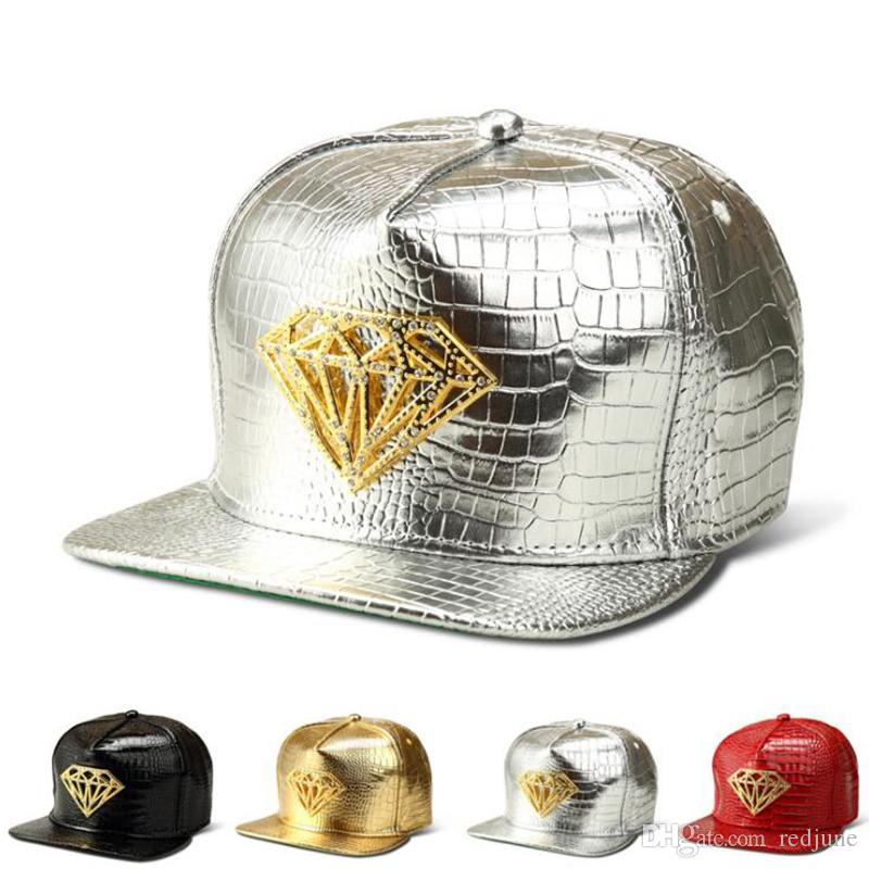 aa2882bf163 Crystal Diamond Sequins Designer Hats For Men Hot Street Wear Skate Dancing Baseball  Caps Men Night Club Party Men Hats Army Cap Cheap Hats From Redjune