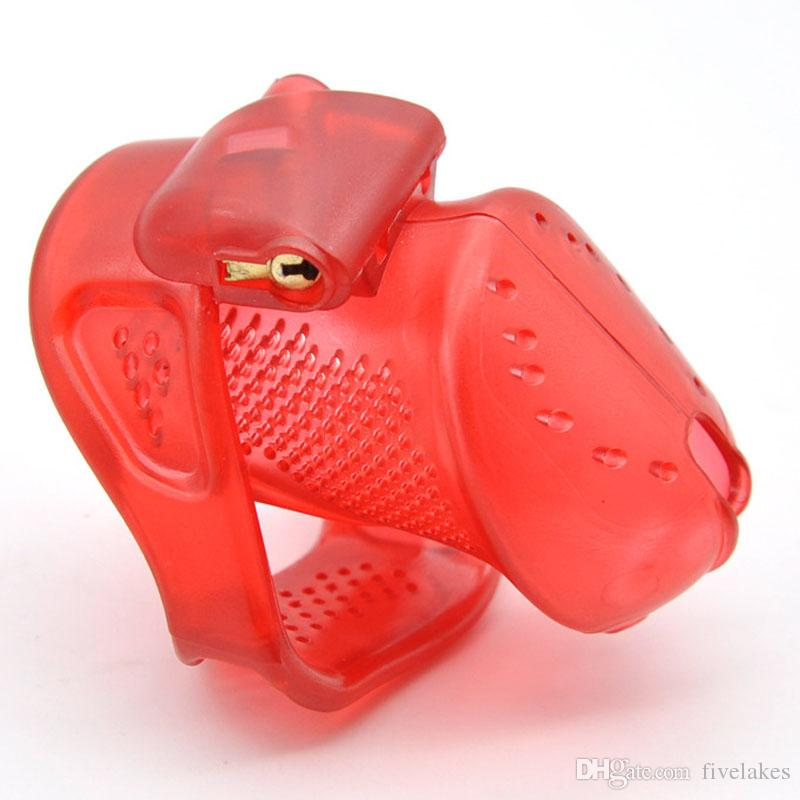 Breathable Design Short Size Male Chastity Device, Cock Cage, Virginity/Chastity Lock/Belt, Penis Ring, Adult Game, Sex Toy