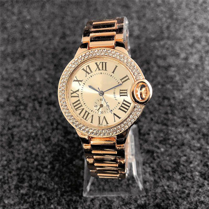 38mm reloj mujer mode marke voller diamantenuhr frauen einfache digitale damen kleid luxus designer frauen uhren armband rose gold uhr