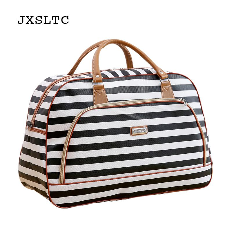 ae20544c90 JXSLTC Women Travel Bags 2018 Fashion Pu Leather Large Capacity Waterproof  Men Luggage Duffle Bag Casual Travel Bags Hand Bags Duffel Bags From  Walmartstore ...